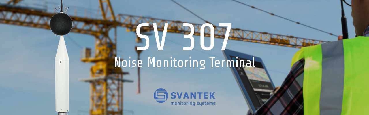 SV 307 Noise Monitoring Terminal with crane in background